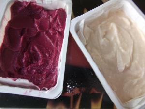 Black Grape and White Grape Sorbet